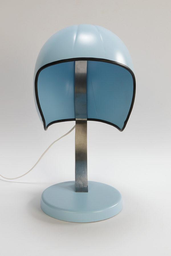 syma design lampe casque moto bleu