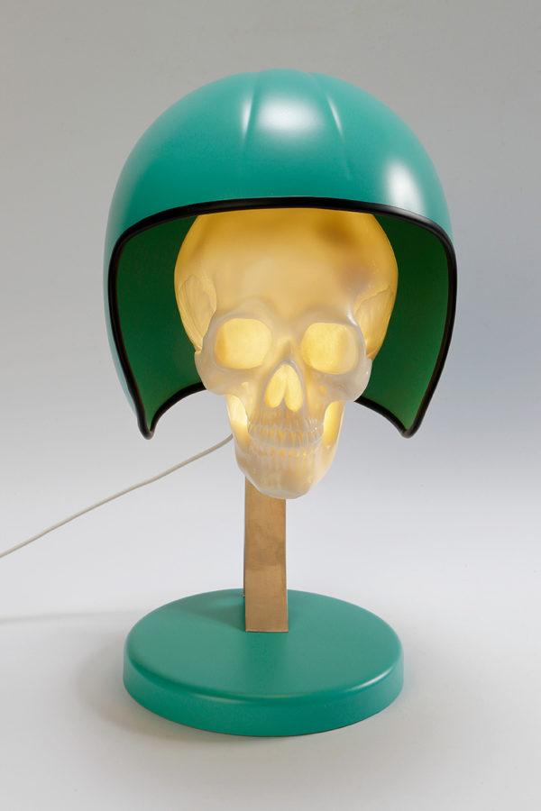 syma design lampe casque moto verte gustave