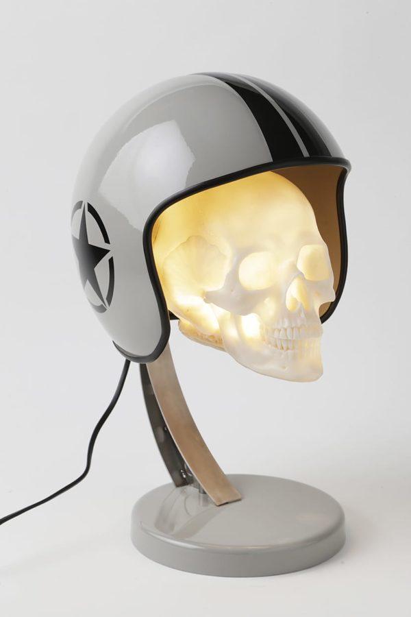 lampe militaire casque moto syma design